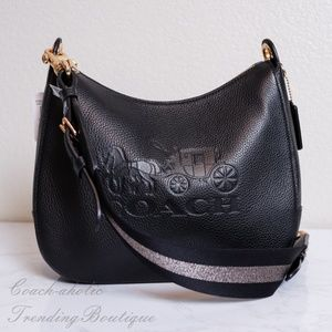 NWT Coach Leather Jes Hobo Shoulder bag in Black